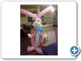 GIANT PINK BUNNY ALONE